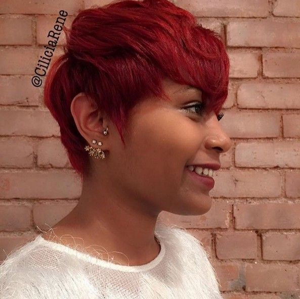 20 Trend Setting Hair Style Ideas For Black Women Girls Popular Haircuts Short Red Hair Red Pixie Haircut Short Hair Styles