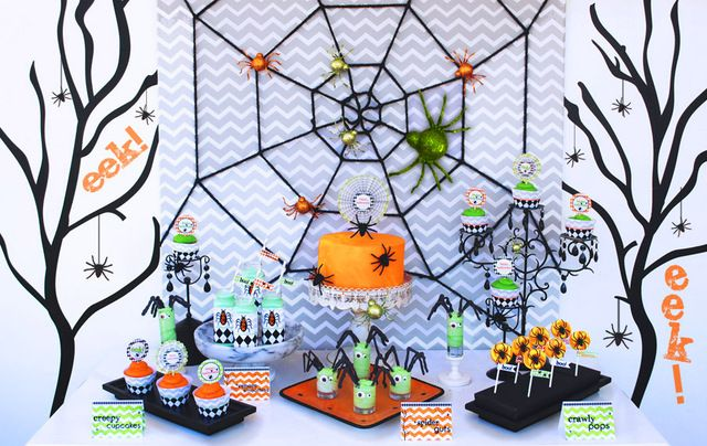 "Photo 6 of 11: Halloween Tablescape for Kids / Halloween ""EEK-O-Ween Halloween Party"" 