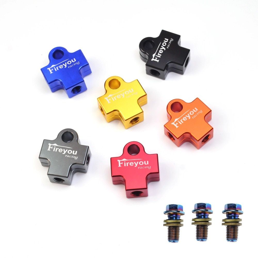 10mm Hydraulic Brake Oil Hose with 3 Way Tee Coupling Pipe Adaptor For Motorcycle ATV