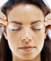 A Head Massage: Grab your favorite oil, put  on hands & rub them together. With medium pressure, press your fingers from the base of your skull, around the hairline & slightly behind eyes. Spread fingers over the scalp; stroke gently downwards & upwards. With fingertips, apply slight pressure on the muscles of the scalp & neck to help the #headrelax.