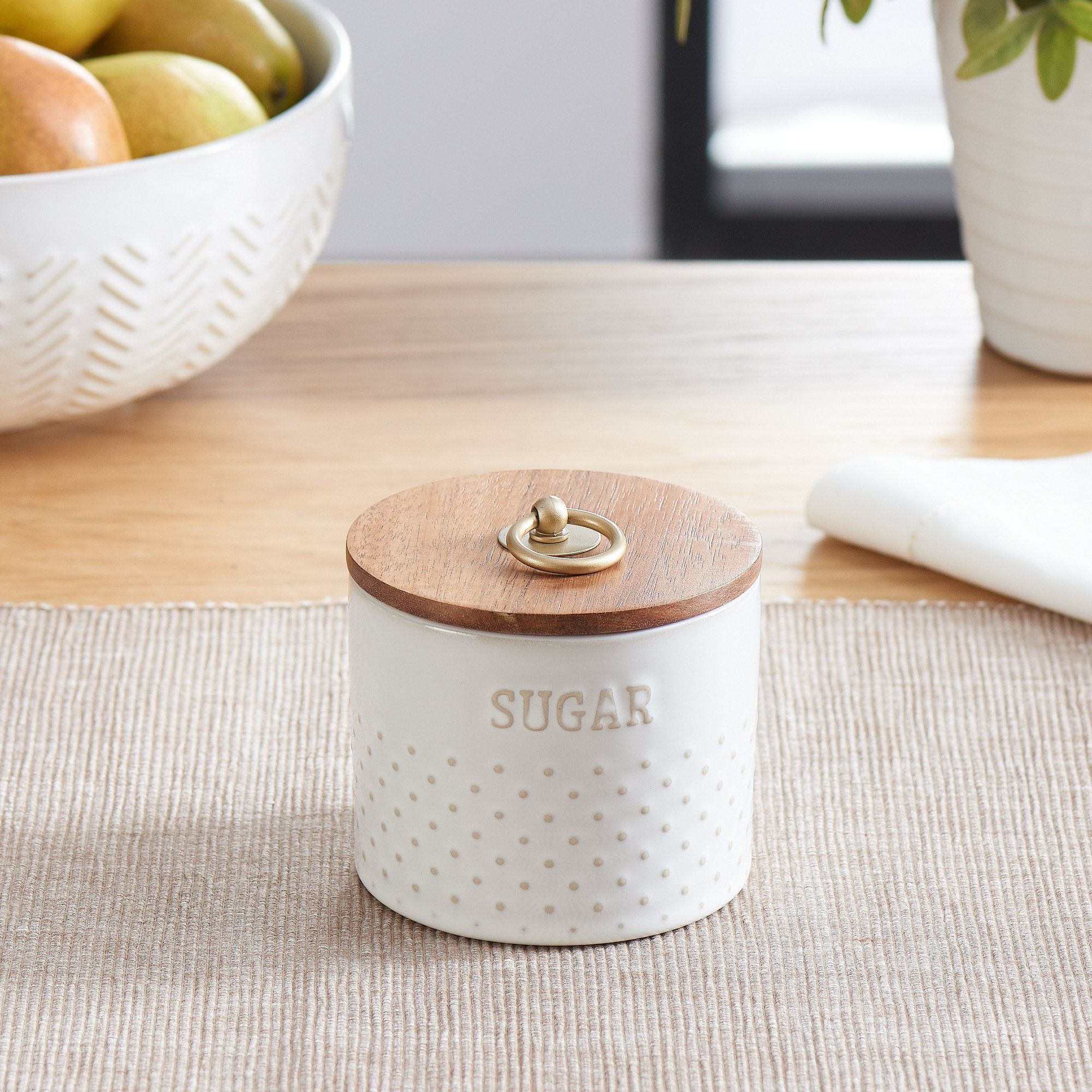 f003c23cd8c611df8db9ff7fe1b9f565 - Better Homes & Gardens Ceramic Hobnail Canister Small