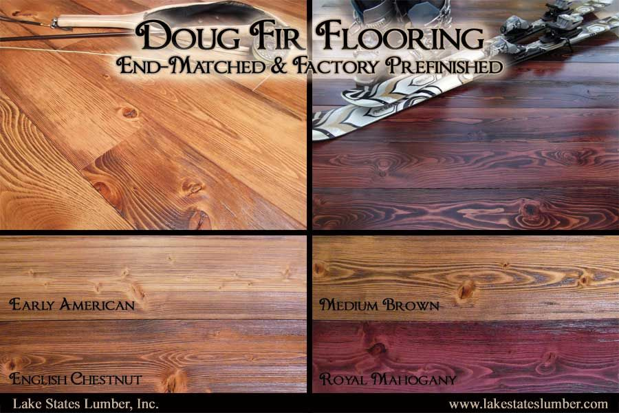 Factory Prefinished Douglas Fir Flooring Available From