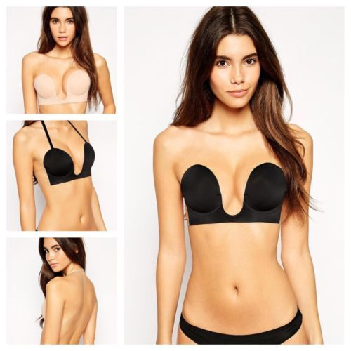 7fd369fa7b9ef Victoria Secret Deep U Plunge Bra // Push Up // Strapless ...