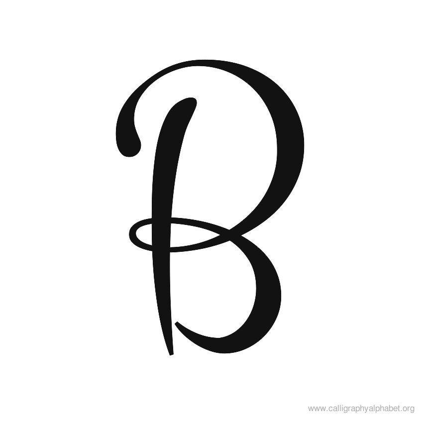 Calligraphy Alphabet Cursive B | Kalligrafie | Pinterest ...