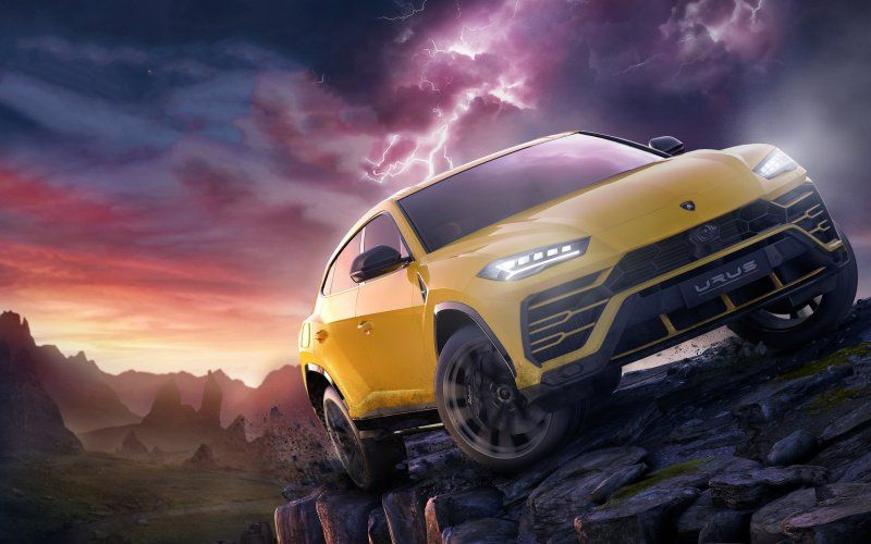 Wallpaper Off Road Yellow Lamborghini Urus Forza Horizon Forza Horizon 4 Forza
