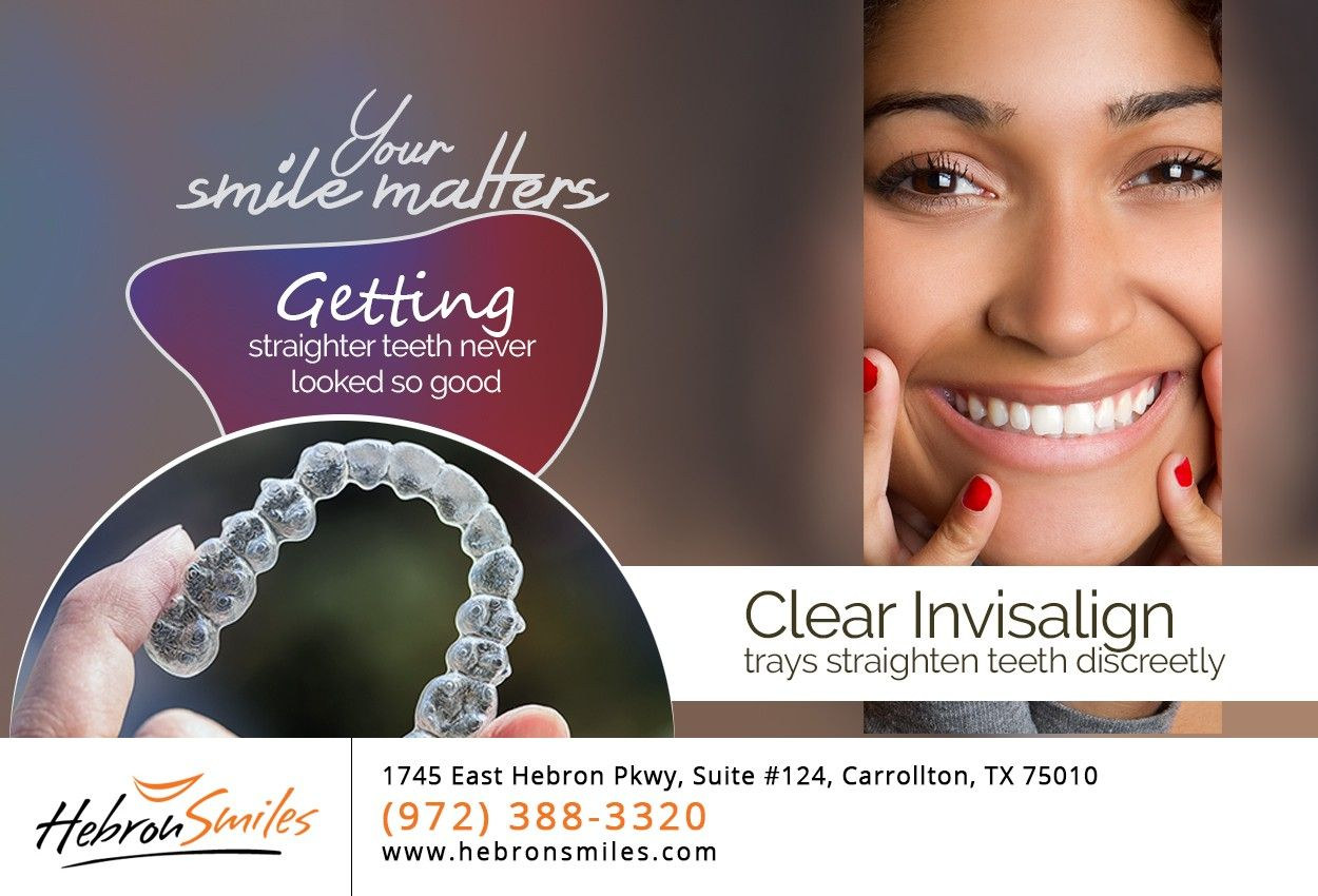Invisalign straightens teeth without the use of metal