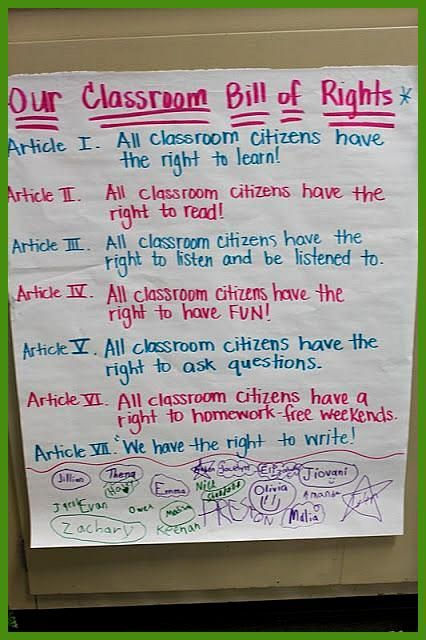 This pin incorporates social studies and writing to write a classroom Bill of Rights This would mea