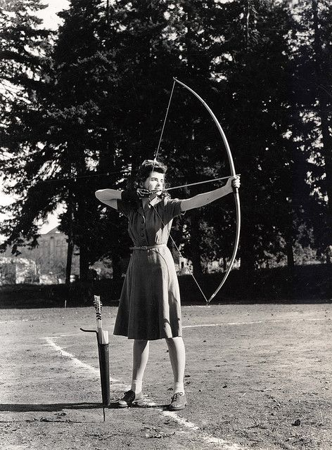 Recurve bows are cool. I hear there's an archery range in GG park. (source: University of Oregon Archery Student 1940's)