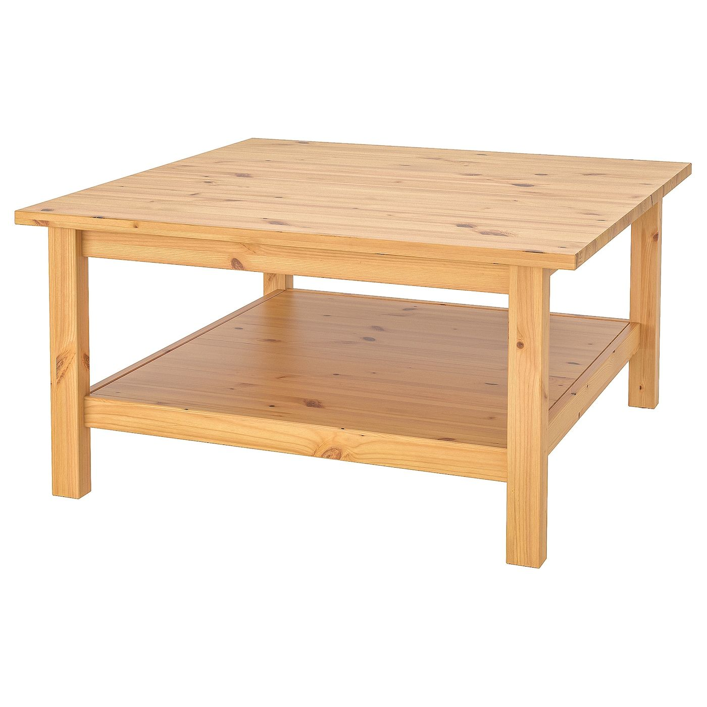 Hemnes Table Basse Brun Clair 90x90 Cm In 2020 Koffietafel