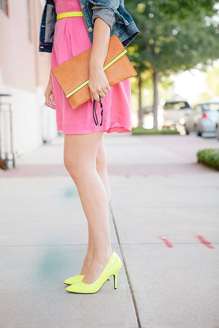 Brighten your day with neon accessories. #colorful #color #bright