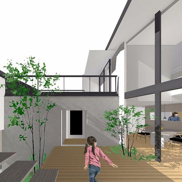 パース図を作ってみた 2020 県民共済住宅 平面図 住宅