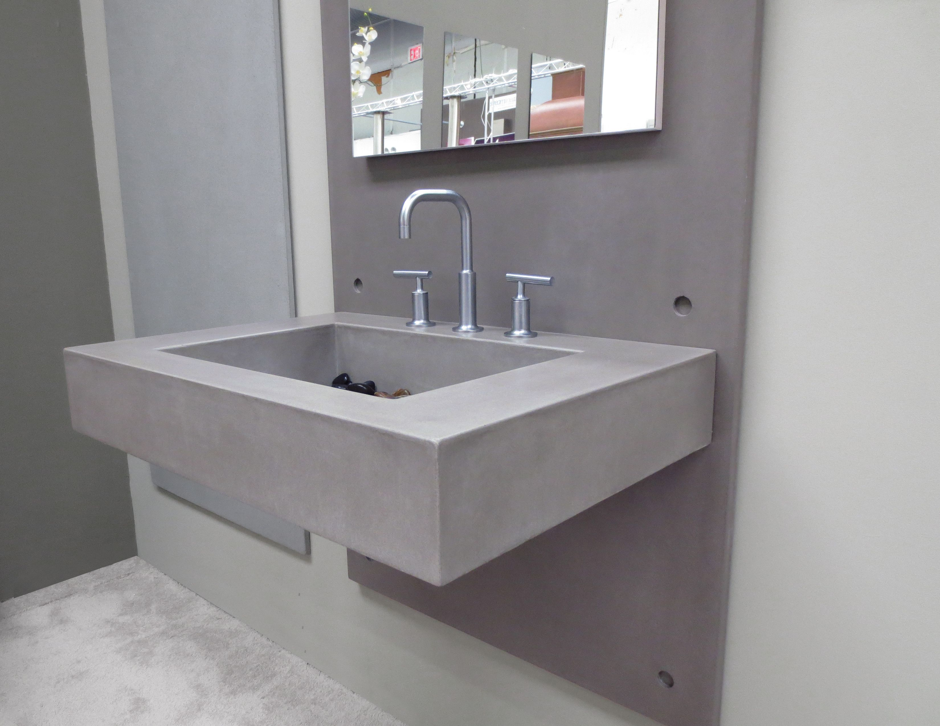 Wall Mount Sink   ADA Concrete Bathroom Sink By Trueform Concrete  #TrueformConcrete #OurSinks