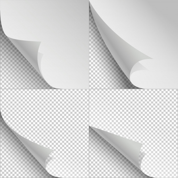 Blank Sheets Of Paper With Page Curl And Shadows Graphic Design Photoshop Sheet Of Paper Paper