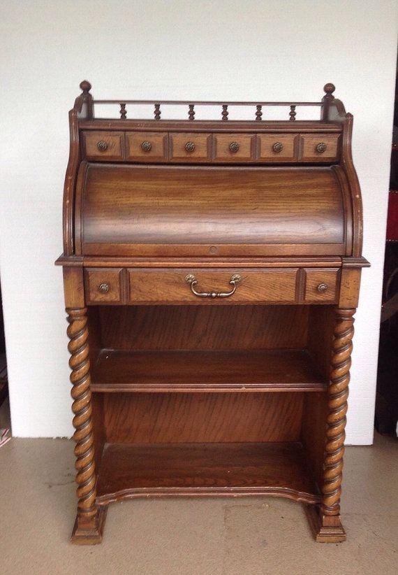 Brilliant 25 National Mt Airy Roll Top Secretary Wood Desk Carved Interior Design Ideas Grebswwsoteloinfo