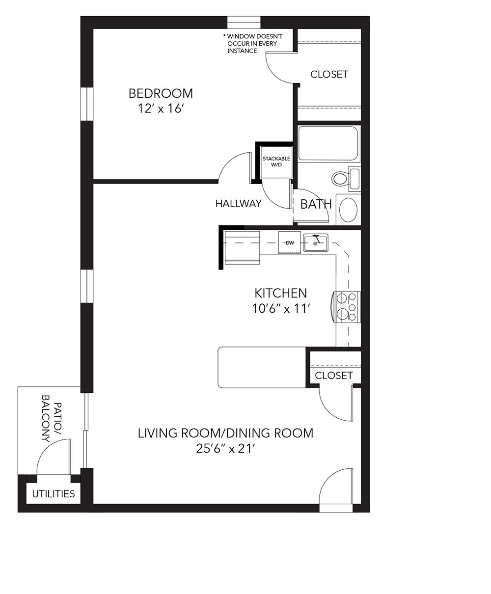 Banbury Floor Plan 1 Bed 1 Bath 870 Sq Ft Apartments House Plans Pinterest Apartments