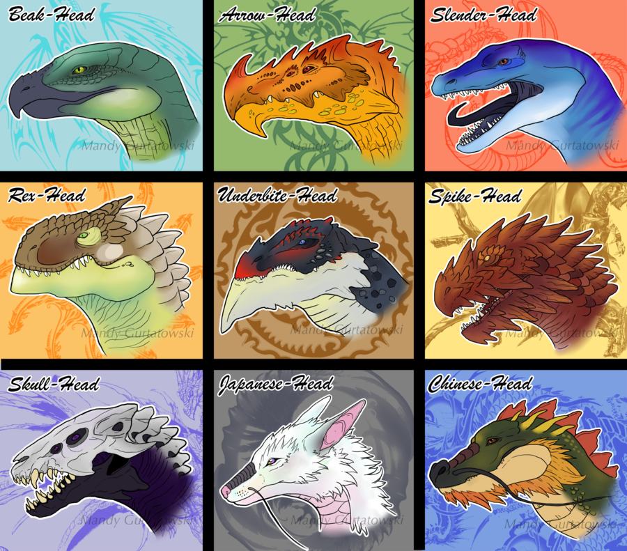Some colored, yet unshaded Headshape-Designs I made for ...
