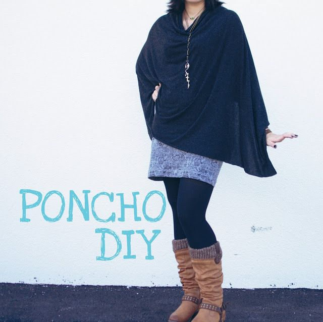 5 minuten poncho {diy} ... | Ponchos, Sewing ideas and Sewing clothes