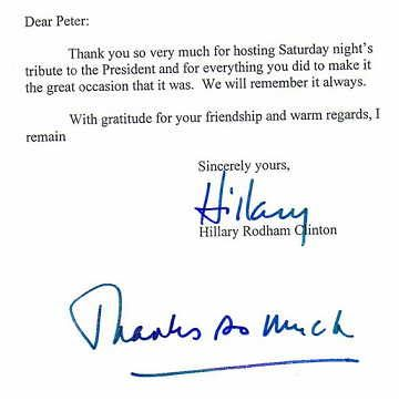 Not Only Did Peter Paul Get Thank You Notes From Each The Clintons