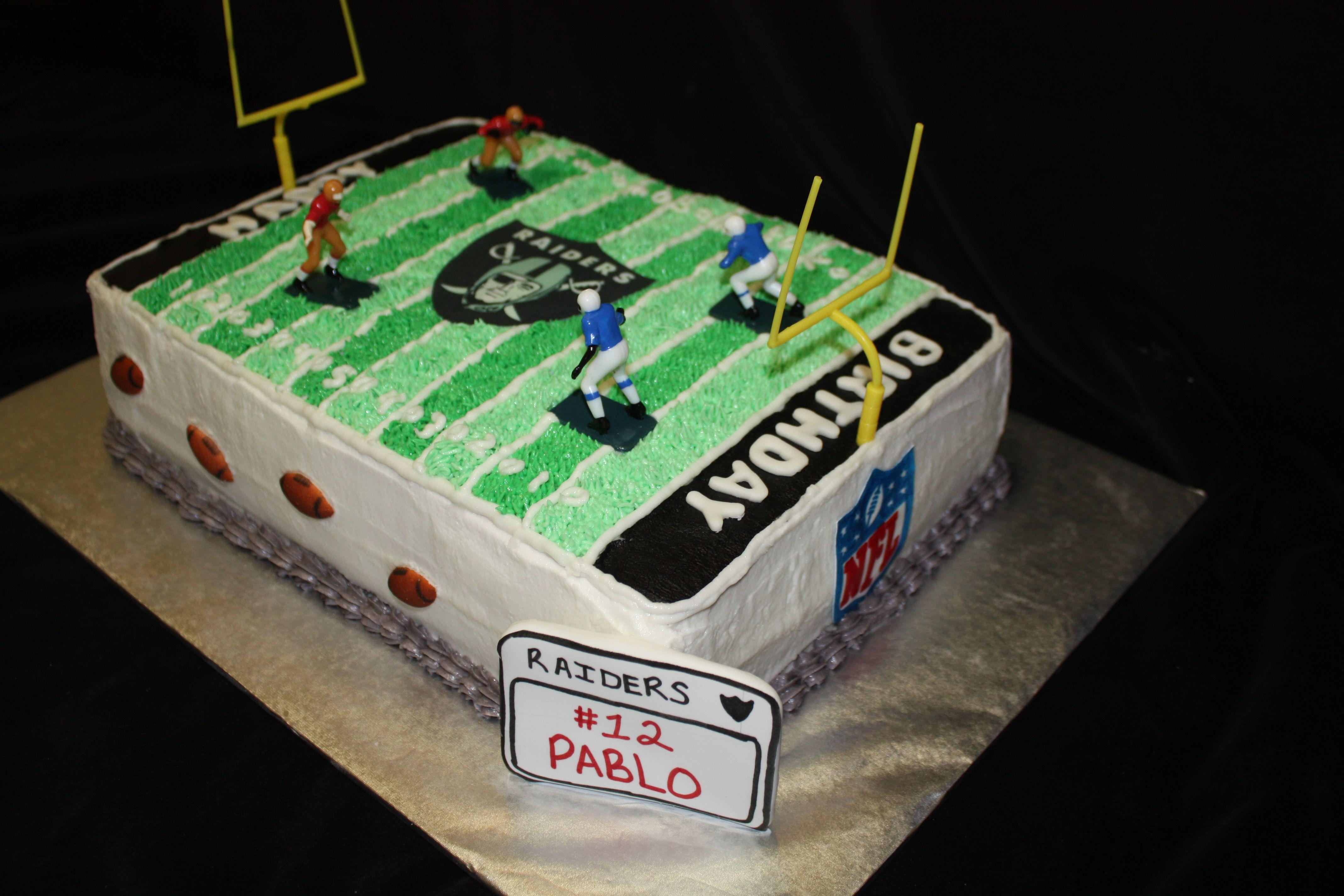 Raiders Football Field Cake