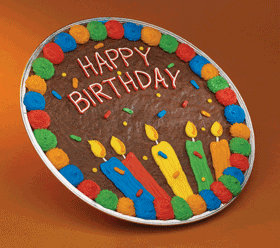 Cookie Cake Designs For Birthday : Brownie Happy Birthday Cookie Cake Food for thought ...