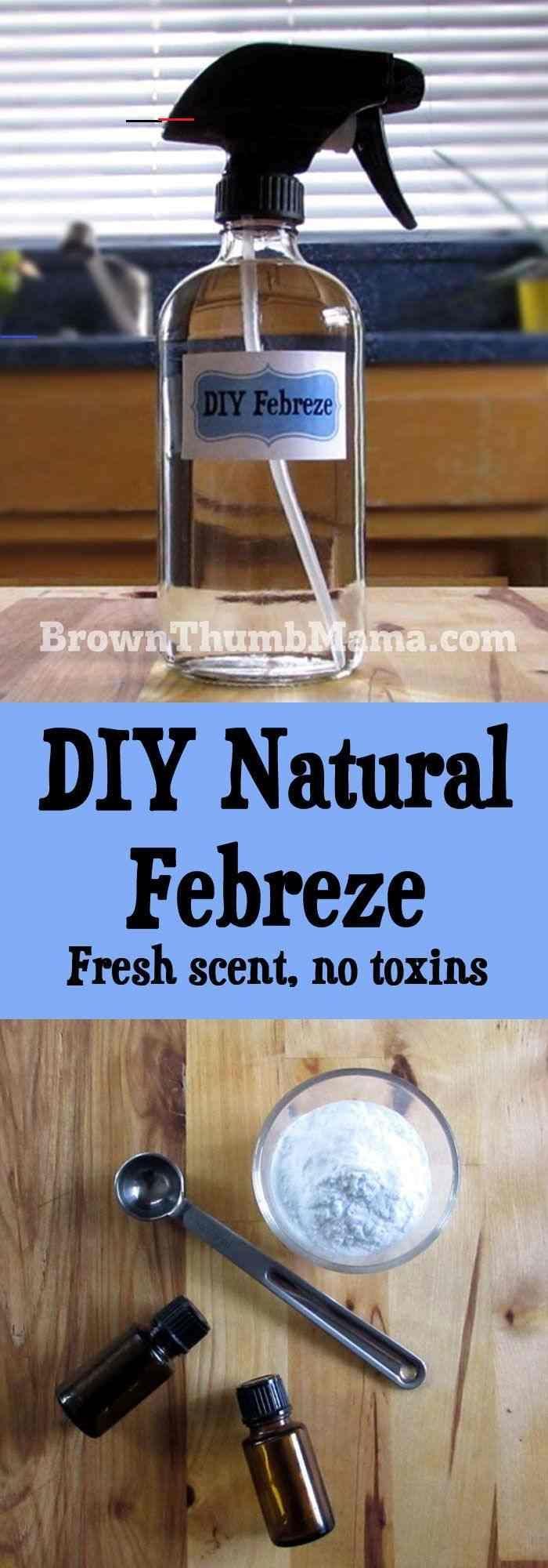Homemade Natural Febreze Febreze Homemade Makeupbrushes Makeupforbeginner In 2020 Natural Air Freshener Natural Air Freshener Spray Diy Cleaning Products Recipes