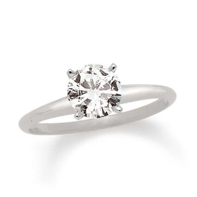 2 CT. Certified Diamond Solitaire Engagement Ring in 14K White Gold