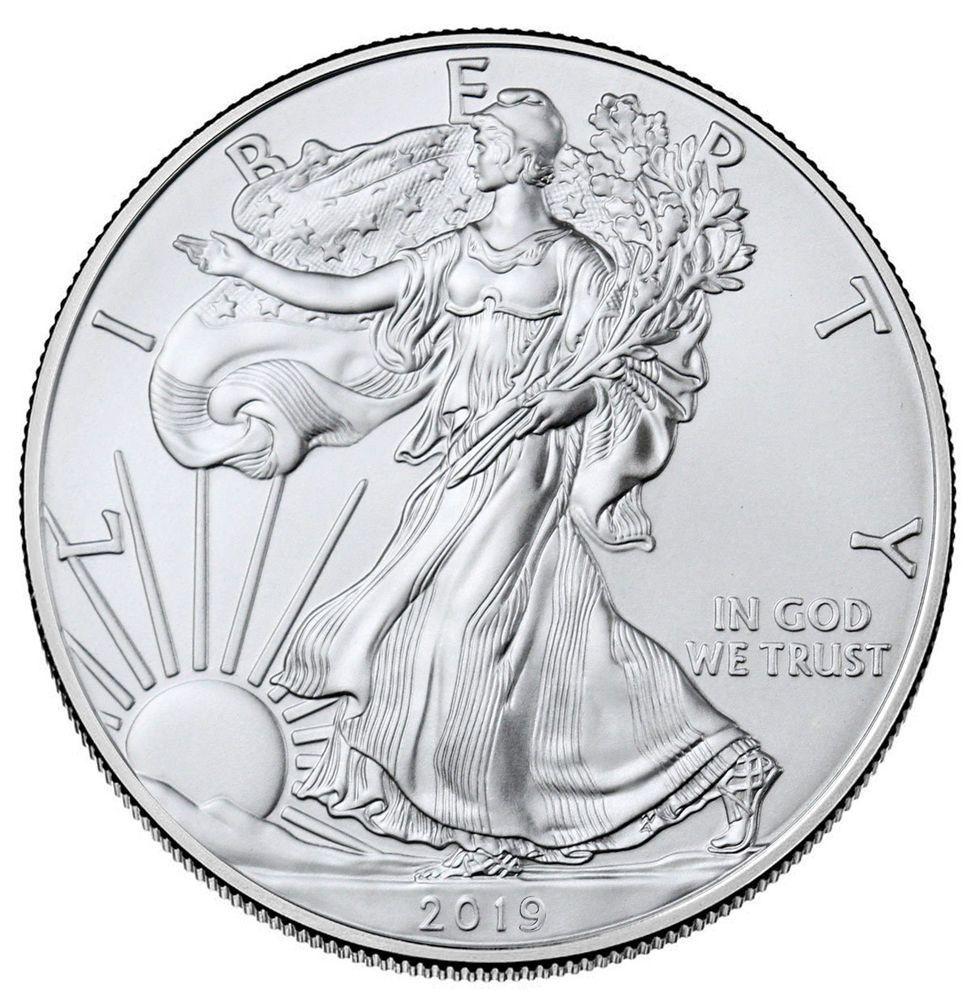 2019 1 Oz American Silver Eagle 1 Gem Bu Sku55748 Ebay The Post 2019 1 Oz American Silver Eagle 1 G In 2020 Silver Eagle Coins Silver Bullion Coins Silver Bullion