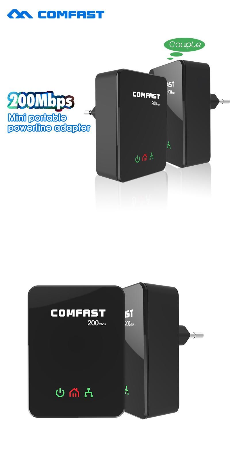 Visit To Buy Hot Sale Power Line Ethernet Adapter Extender 200mbps House Wiring Network Comfast 24ghz