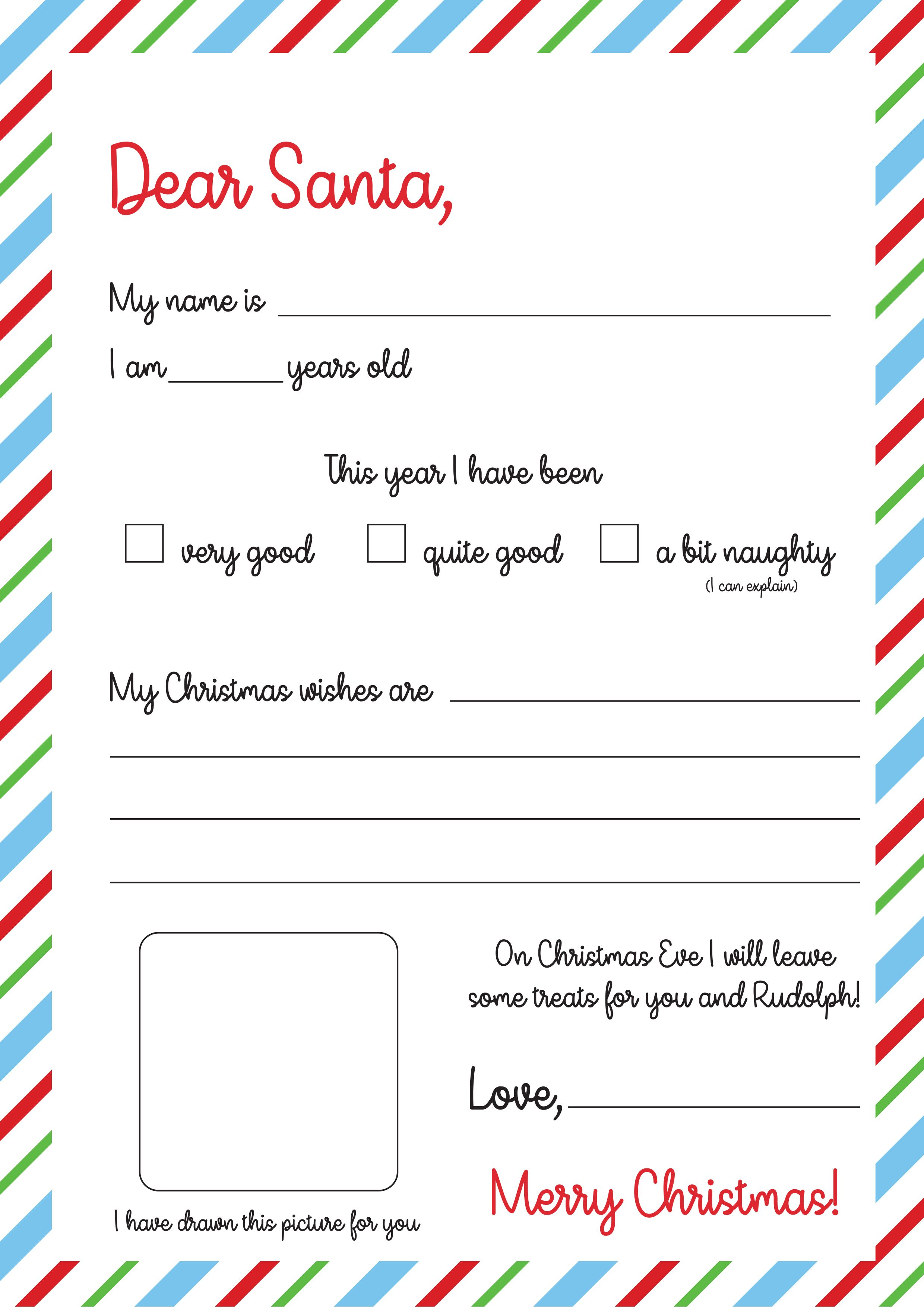 Santa Letters to Print at Home Christmas letter template