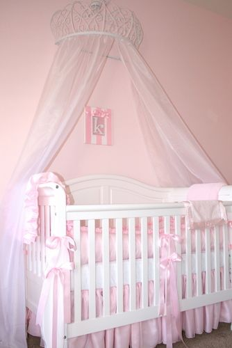 LOVE everything about this especially the canopy over the crib ] so sweet. & Pretty in Pink Nursery | Canopy Crib and Nursery