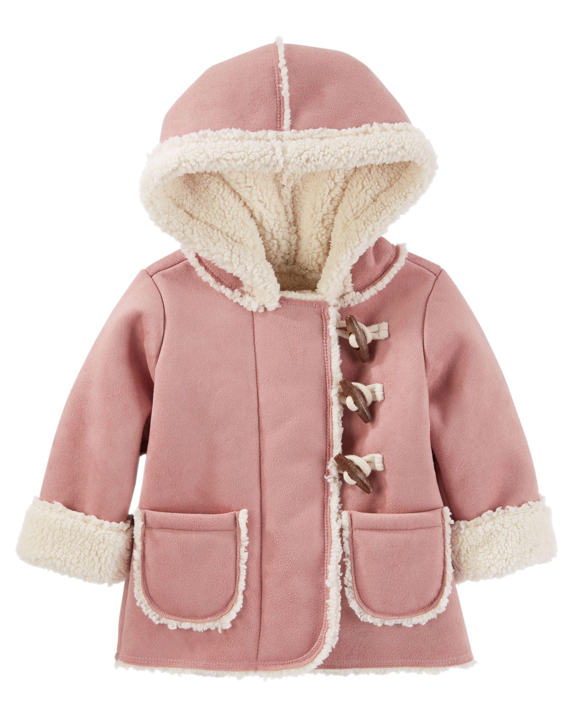 a356e6018723 Baby Girl Sherpa-Lined Toggle Jacket