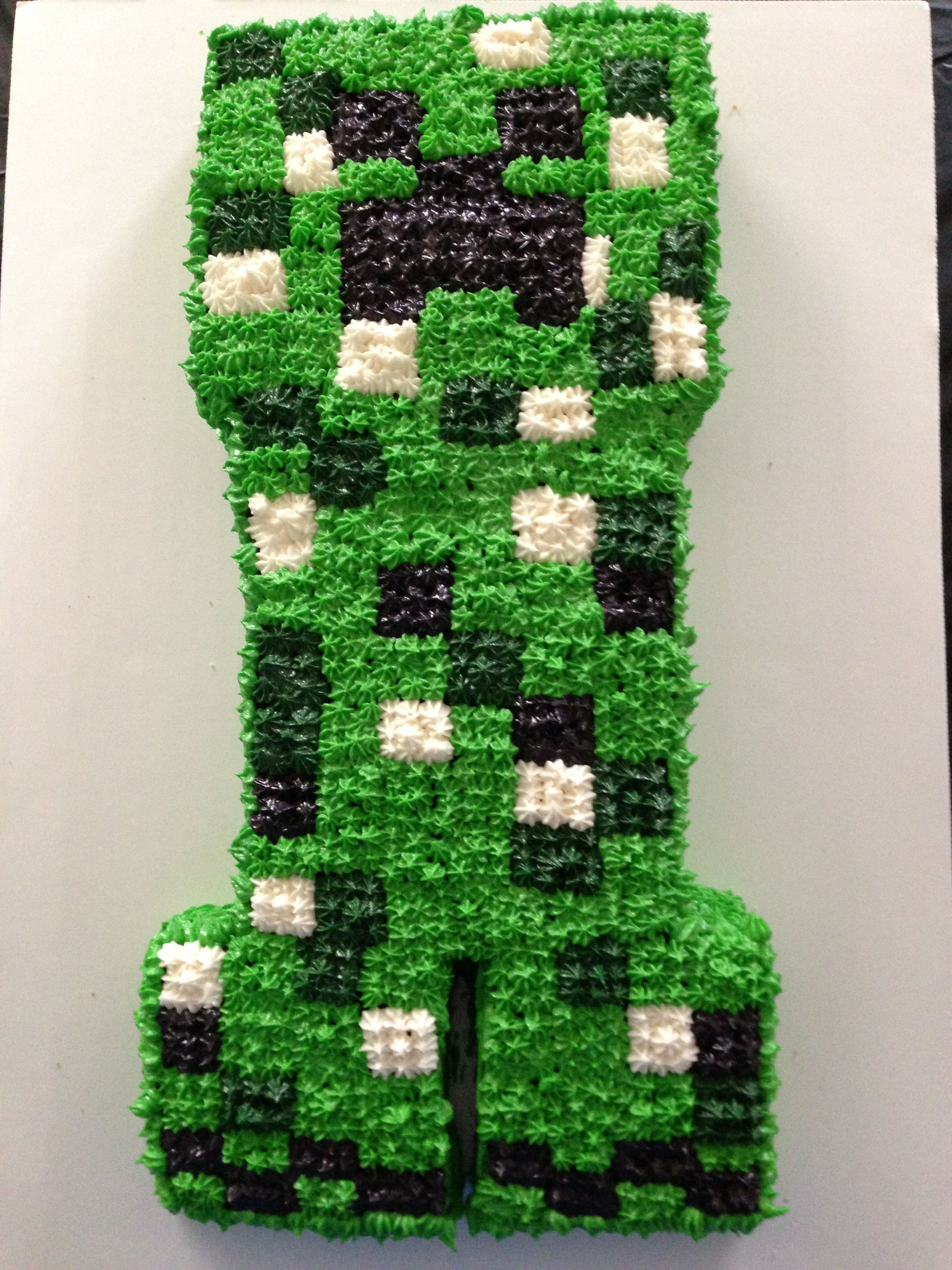 Minecraft creeper cake i made for my sons 11th birthday