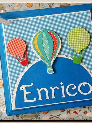 e888ef4ed Livro do bebê Personalizado Balões