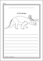 Dig into reading coloring pages ~ Dinosaur colour and write worksheets (SB9215) - SparkleBox ...