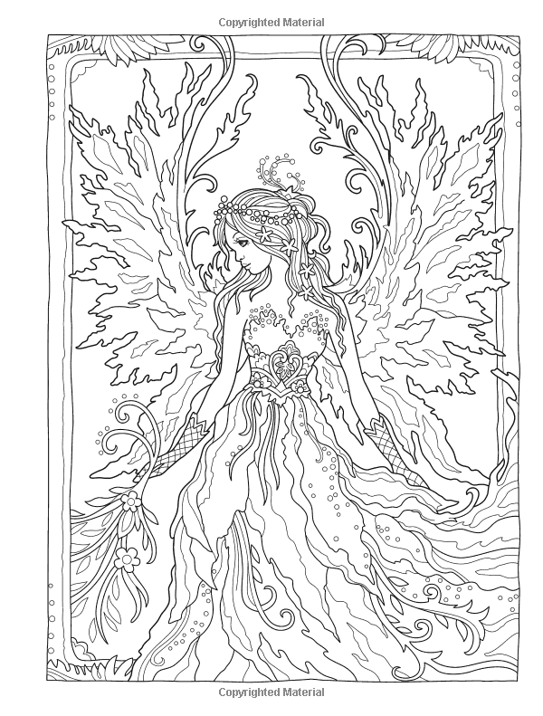 Creative Haven Magical Fairies Coloring Book Amazon Ca Marjorie Sarnat Books Fairy Coloring Fairy Coloring Book Fairy Coloring Pages