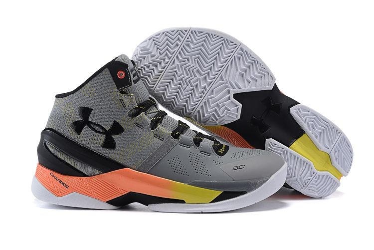 2d28dc850038 Under Armour Stephen Curry 2 Shoes Black Grey Orange