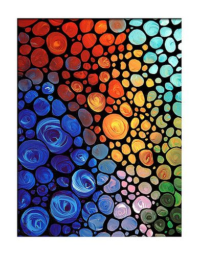 Abstract 1 - Colorful Mosaic Art Painting