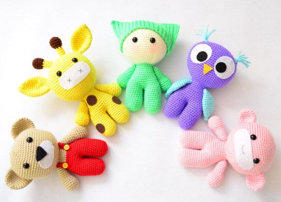 Amigurumi Crochet Patterns Baby And Animal Friends Crochet Toy