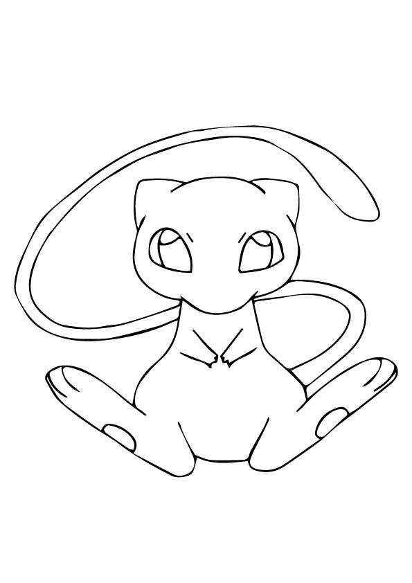 Mew Pink Blue Pokemon Coloring Pages Pokemon Coloring Pikachu