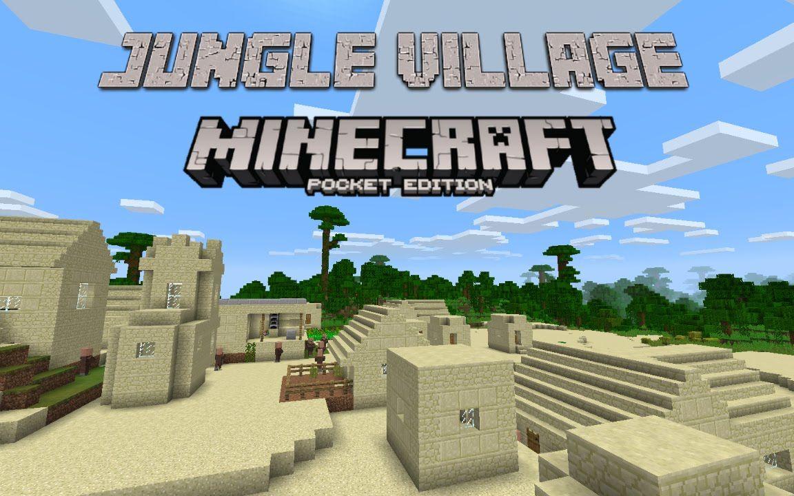 Cool Jungle Village Minecraft Pe Seed 0 13 1 Minecraft Pocket Edition 0 13