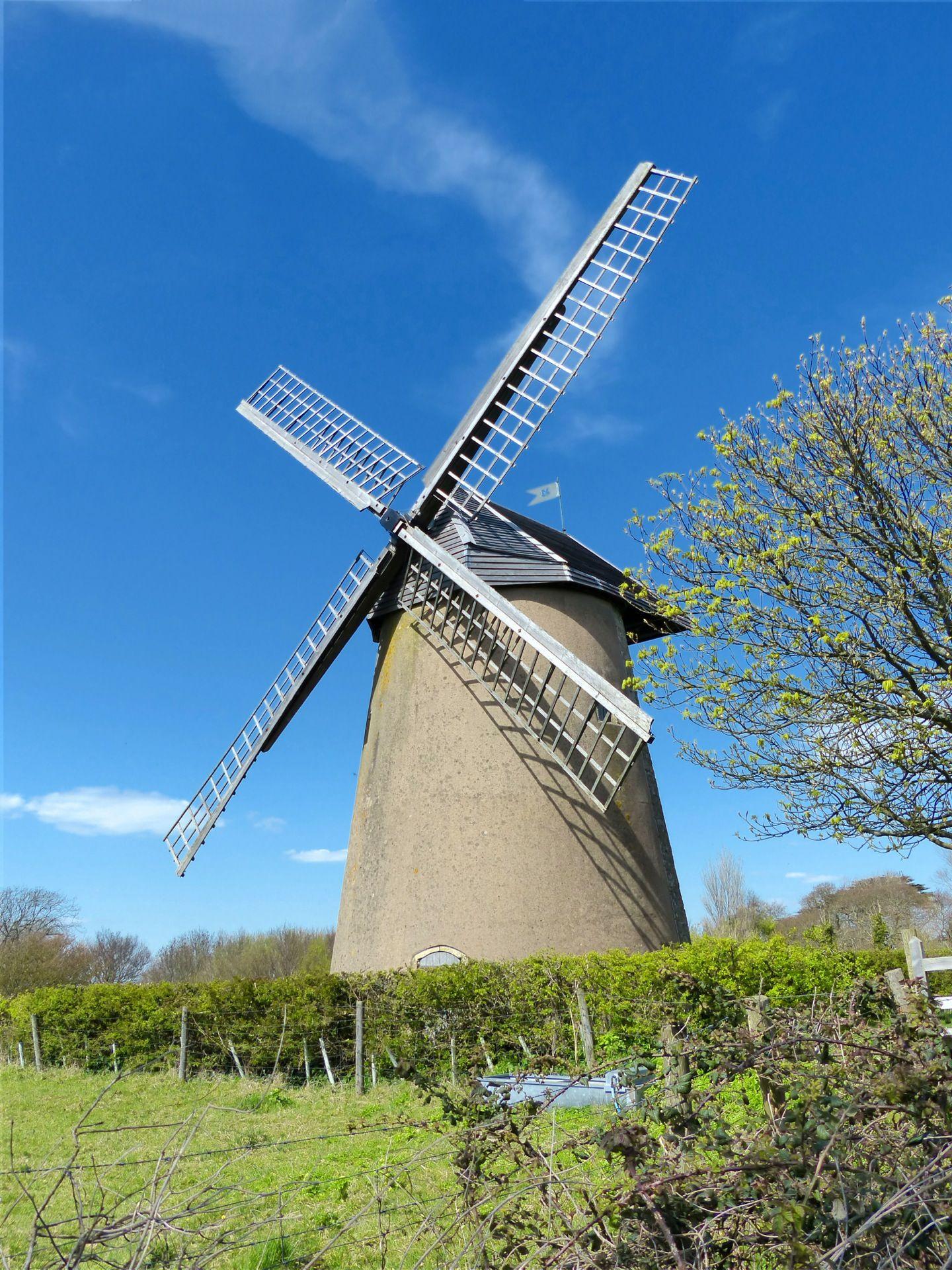 Bembridge Windmill in Bembridge, Isle of Wight
