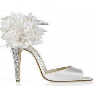 Luxe Blanc chaussures de mariage versez la femme 2014 (4)