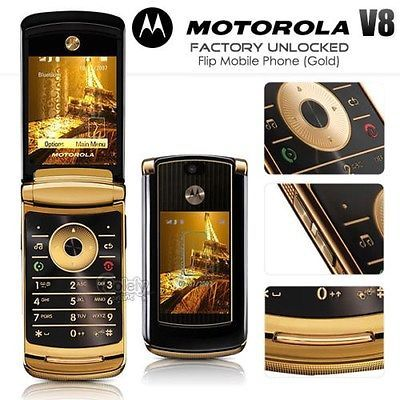 Unlocked New Genuine Motorola Razr2 V8 Gold Luxury Edition 2gb Flip Mobile Phone In 2020 Phone Flip Mobile Phones Motorola Razr