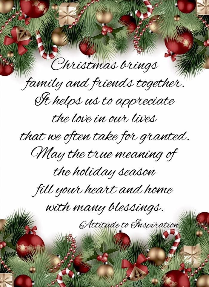 Christmas Brings Christmas Brings Family And Friends Together Merry Christmas Quotes Christmas Poems Christmas Card Sayings