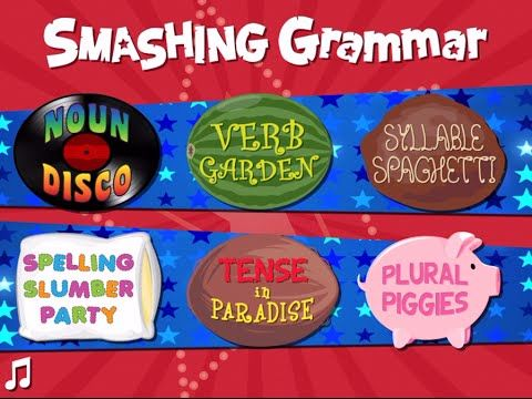 Review: Smashing Grammar by Fairlady Media is a fast-paced game for creating future lovable grammar nerds. - Smart Apps For Kids