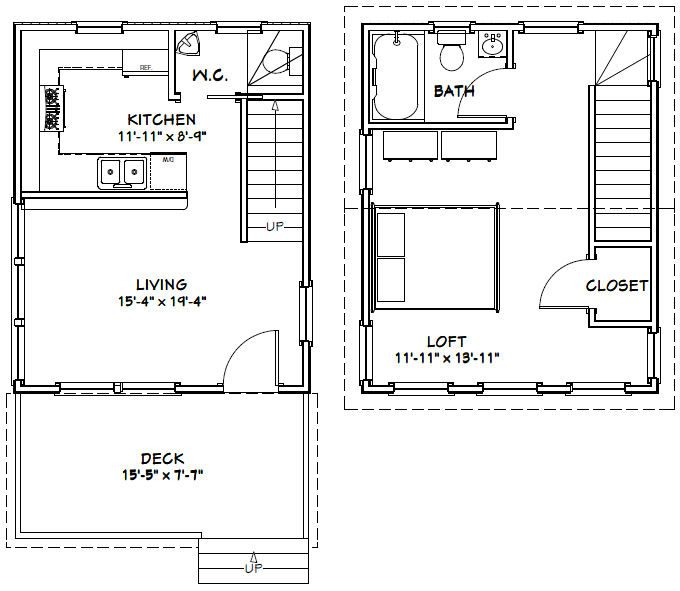 16x20 house 16x20h3 569 sq ft excellent floor for 16 x 30 cabin floor plans
