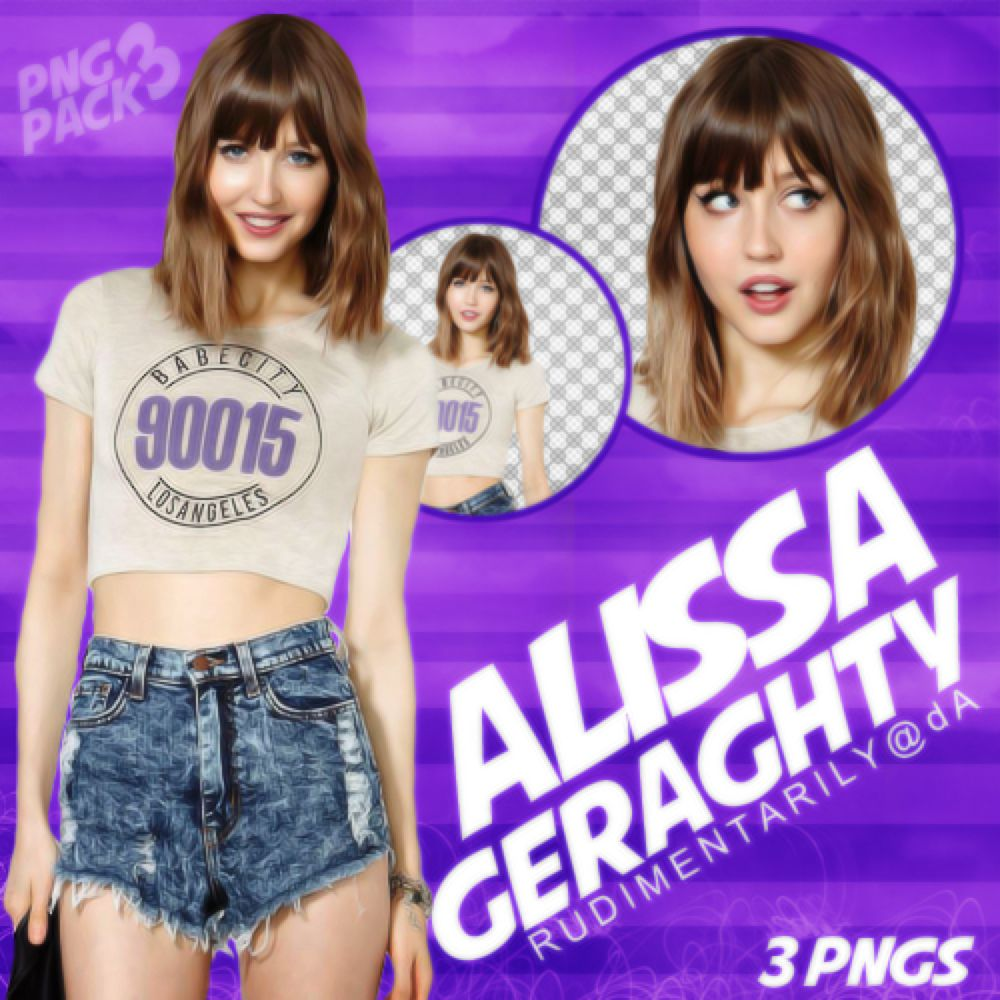 PNG PACK #3 - Female Model (Alissa Geraghty) by rudimentarily on @DeviantArt