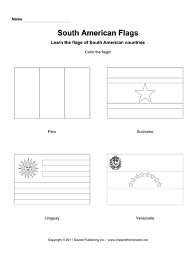 Color South American Flags 3 South American Flags American Flag