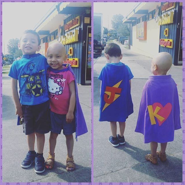 Super Kara and her friend Super Julian look great in their #TinySuperheroes capes, don't they!!
