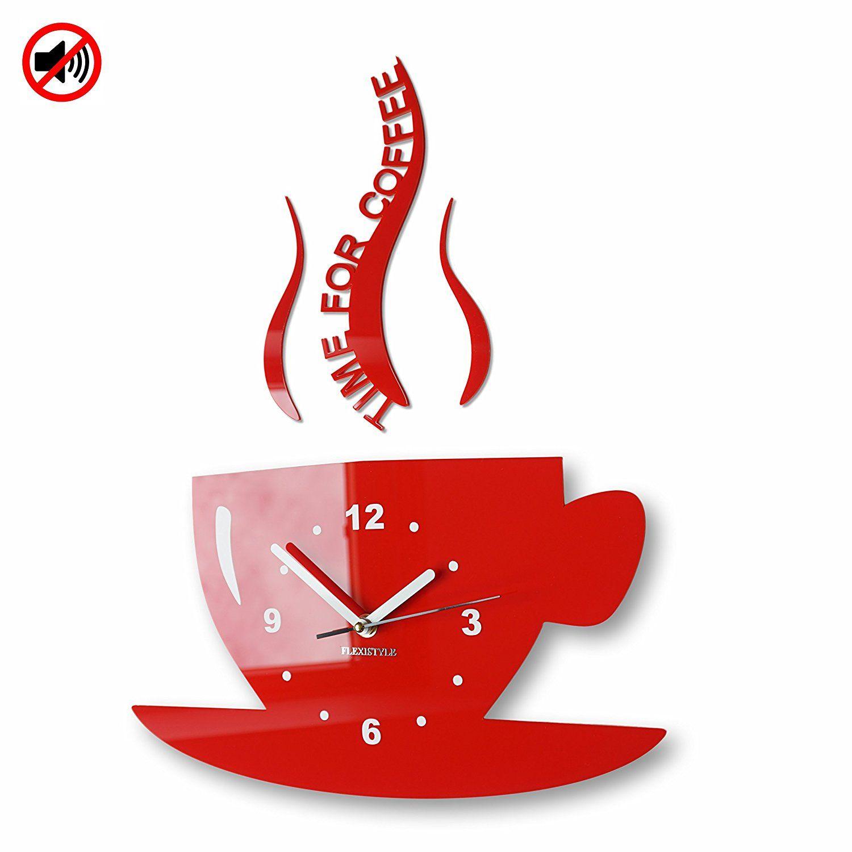 Tasse Time For Coffee Zeit Für Kaffee Wanduhr Clock Design Clock Wall Clock